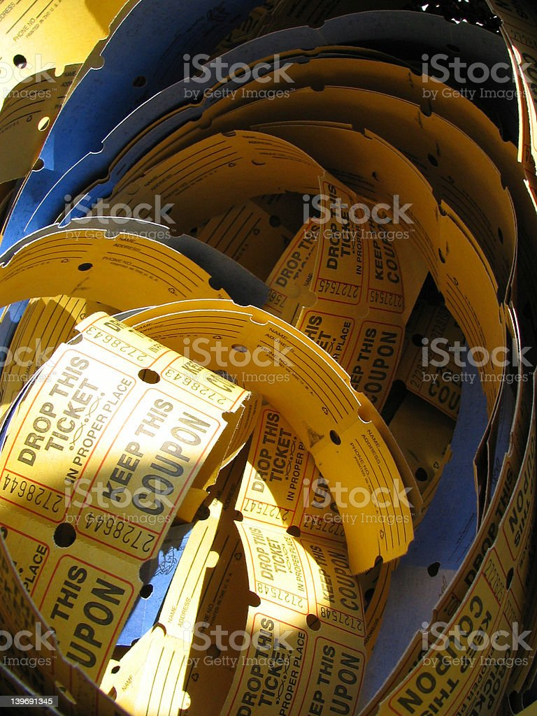 Tickets in a Basket royalty-free stock photo