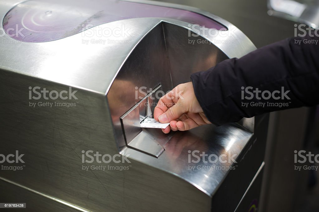 Tickets of subway in Paris stock photo