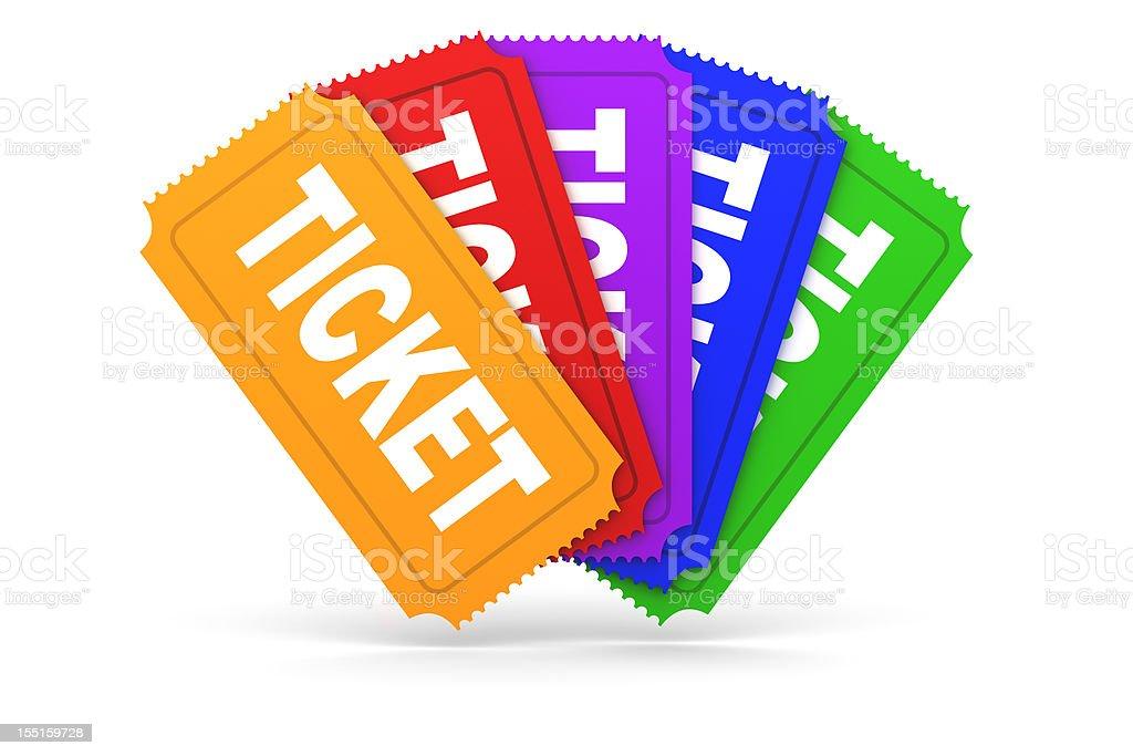 Tickets royalty-free stock photo