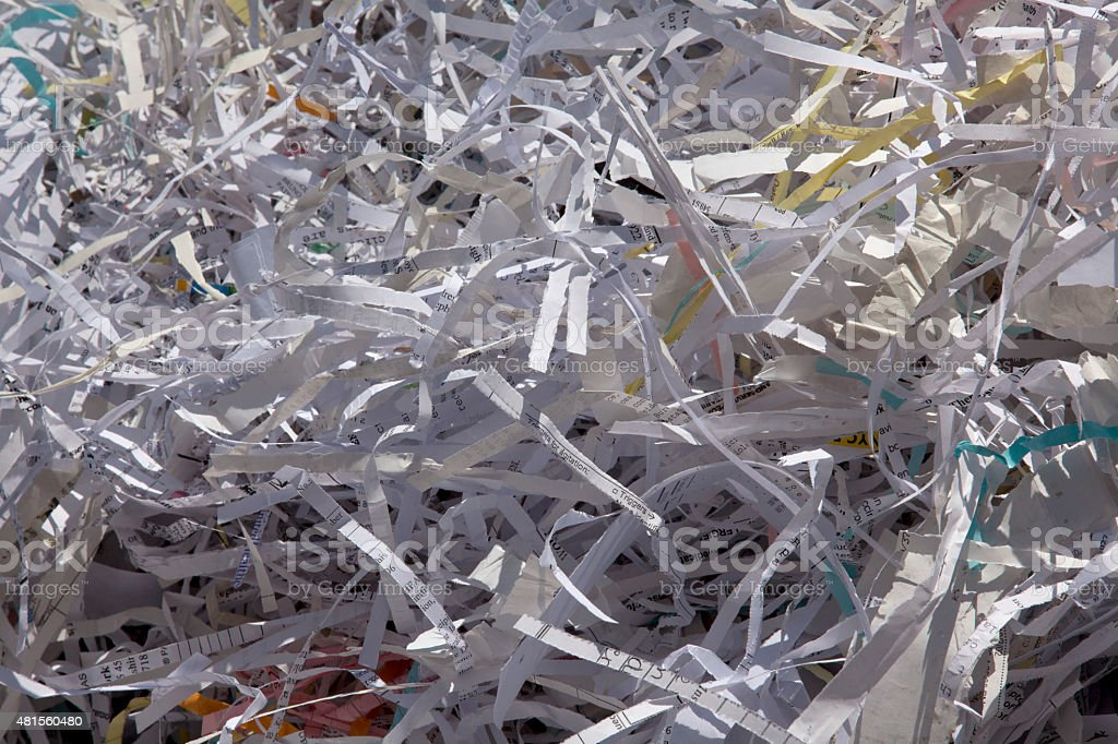 Ticket-tape Parade Cleanup stock photo