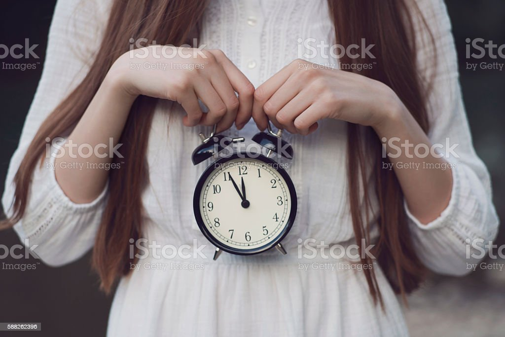 Ticking Clock stock photo