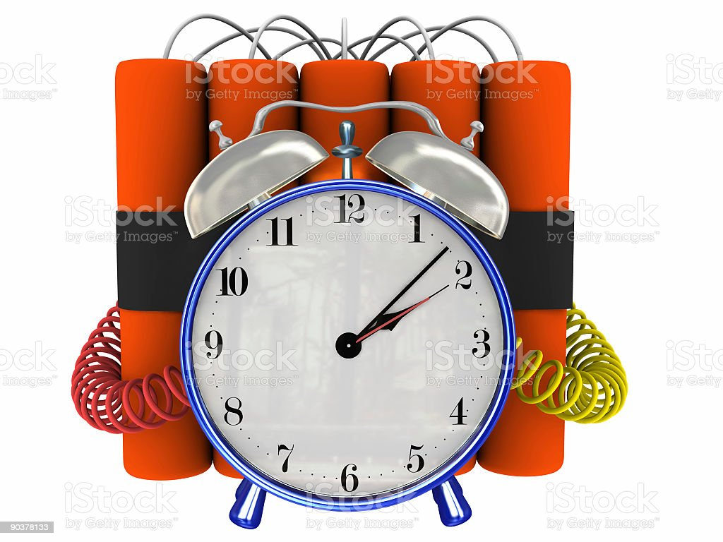 Ticking Time Bomb (Clip Path) royalty-free stock photo
