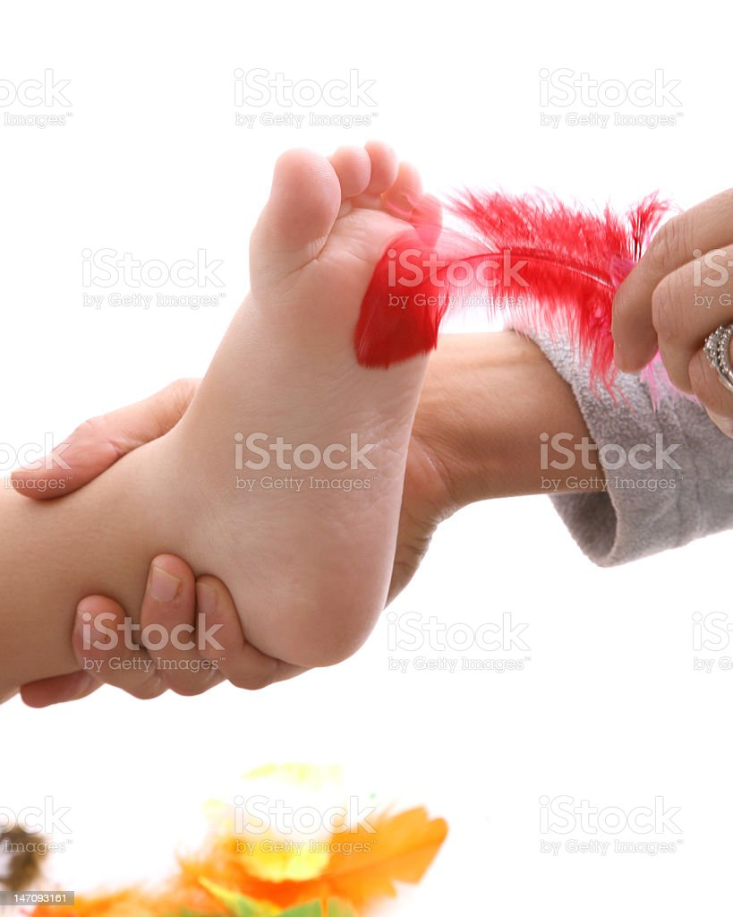 tickle feet stock photo