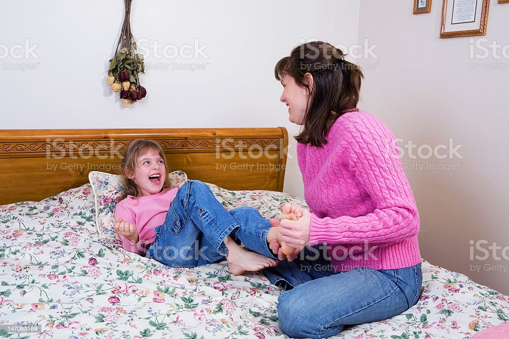 Tickle Time stock photo