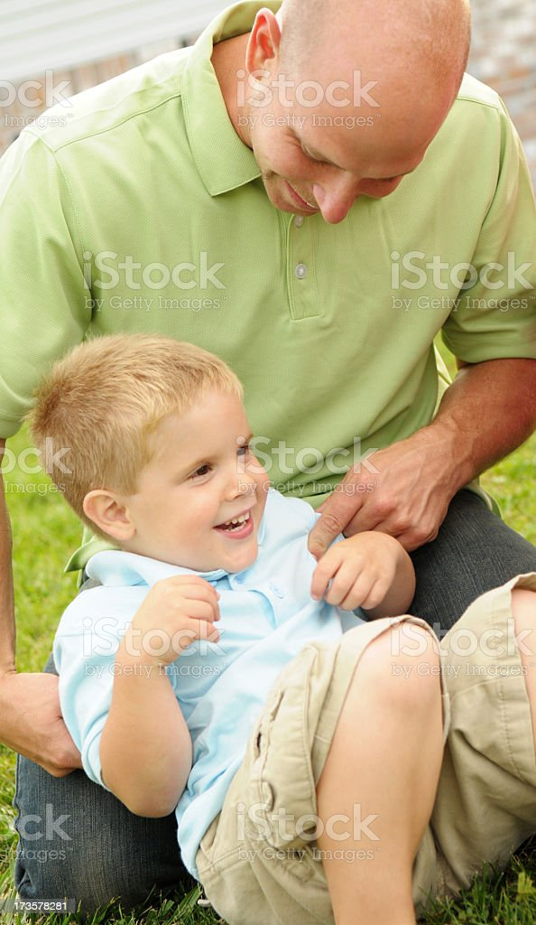 Tickling royalty-free stock photo