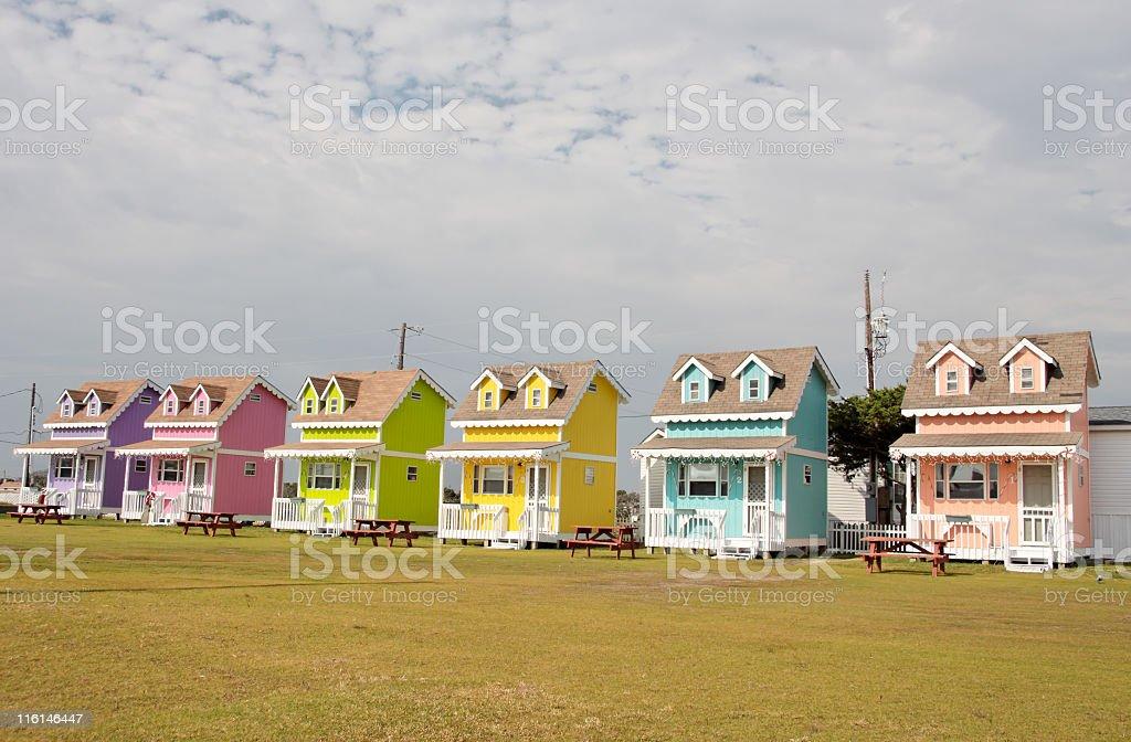 Ticky Tacky Camp Homes royalty-free stock photo