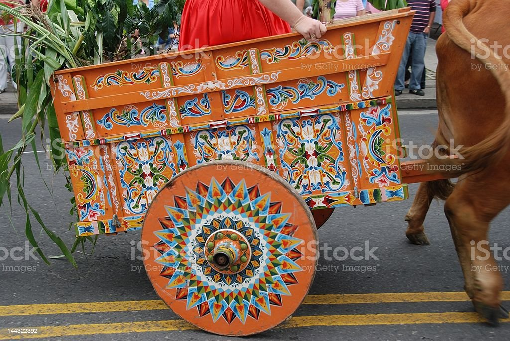 Tico Ox Cart Ride stock photo