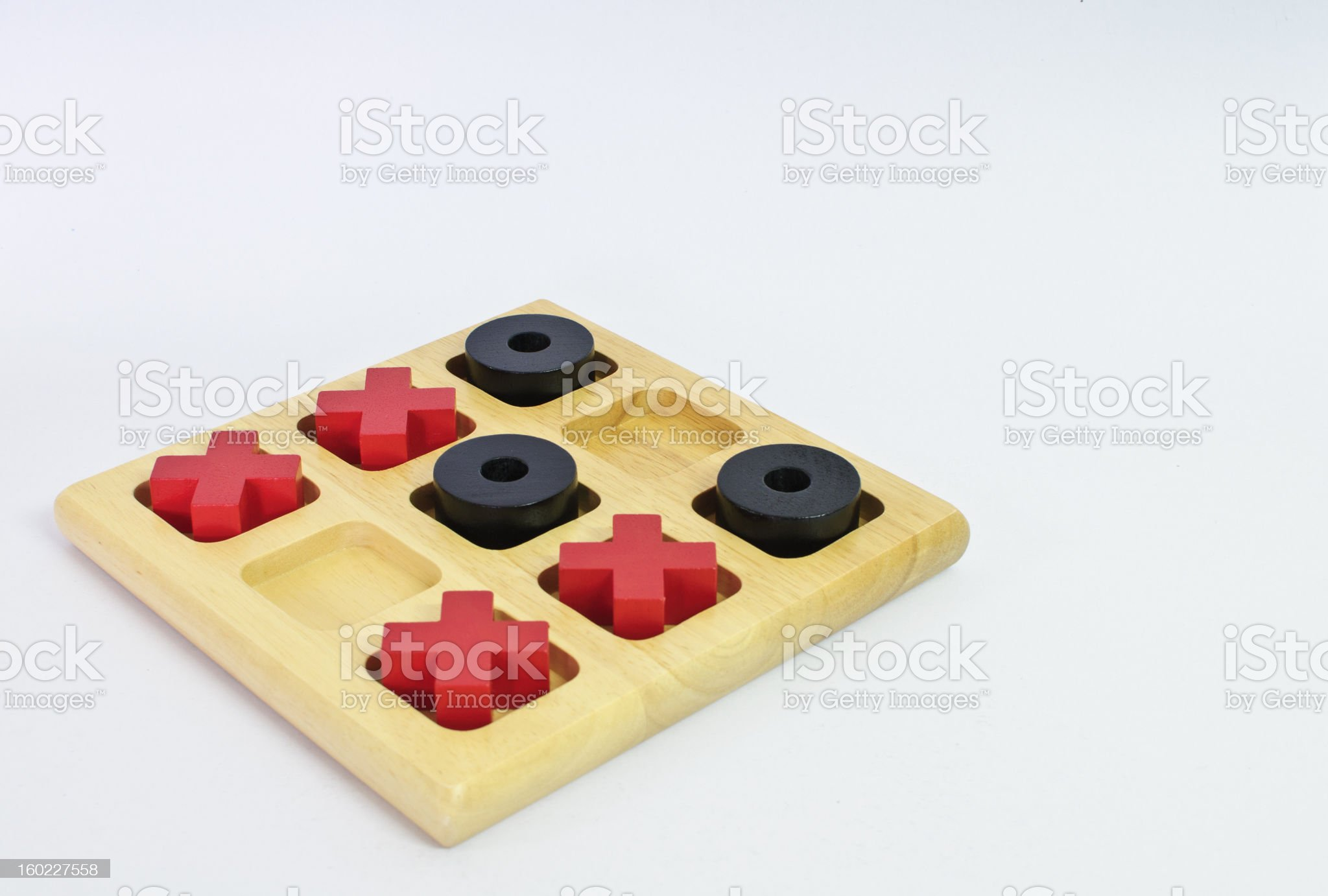 Tic-tac-toe classic game royalty-free stock photo