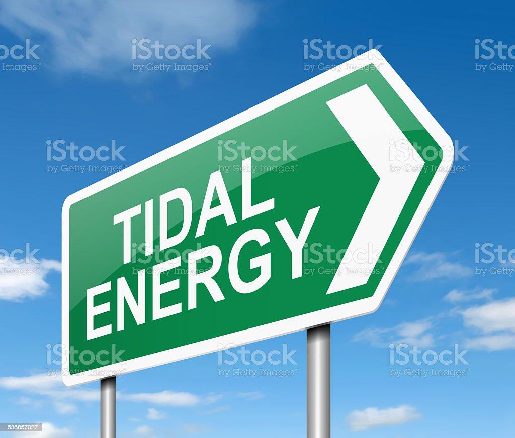 Tidal energy concept. stock photo