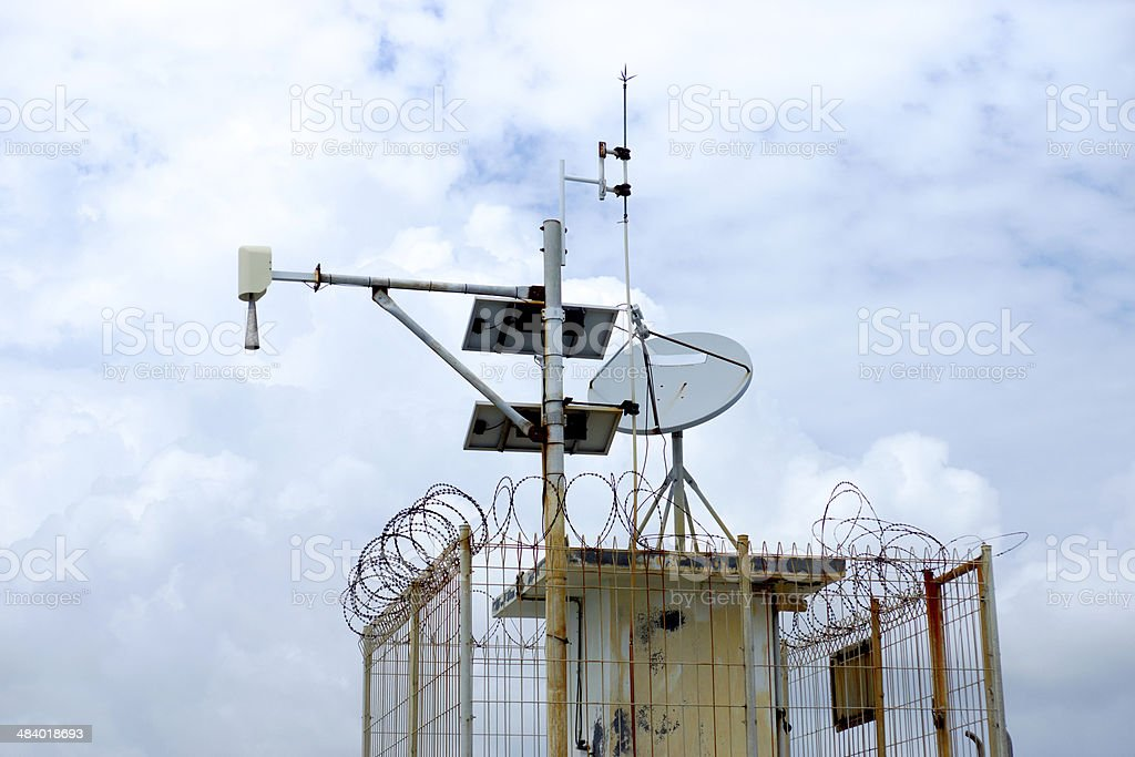 Tidal Gauge Station to detect tsunamis.Gulf of Thailand. stock photo