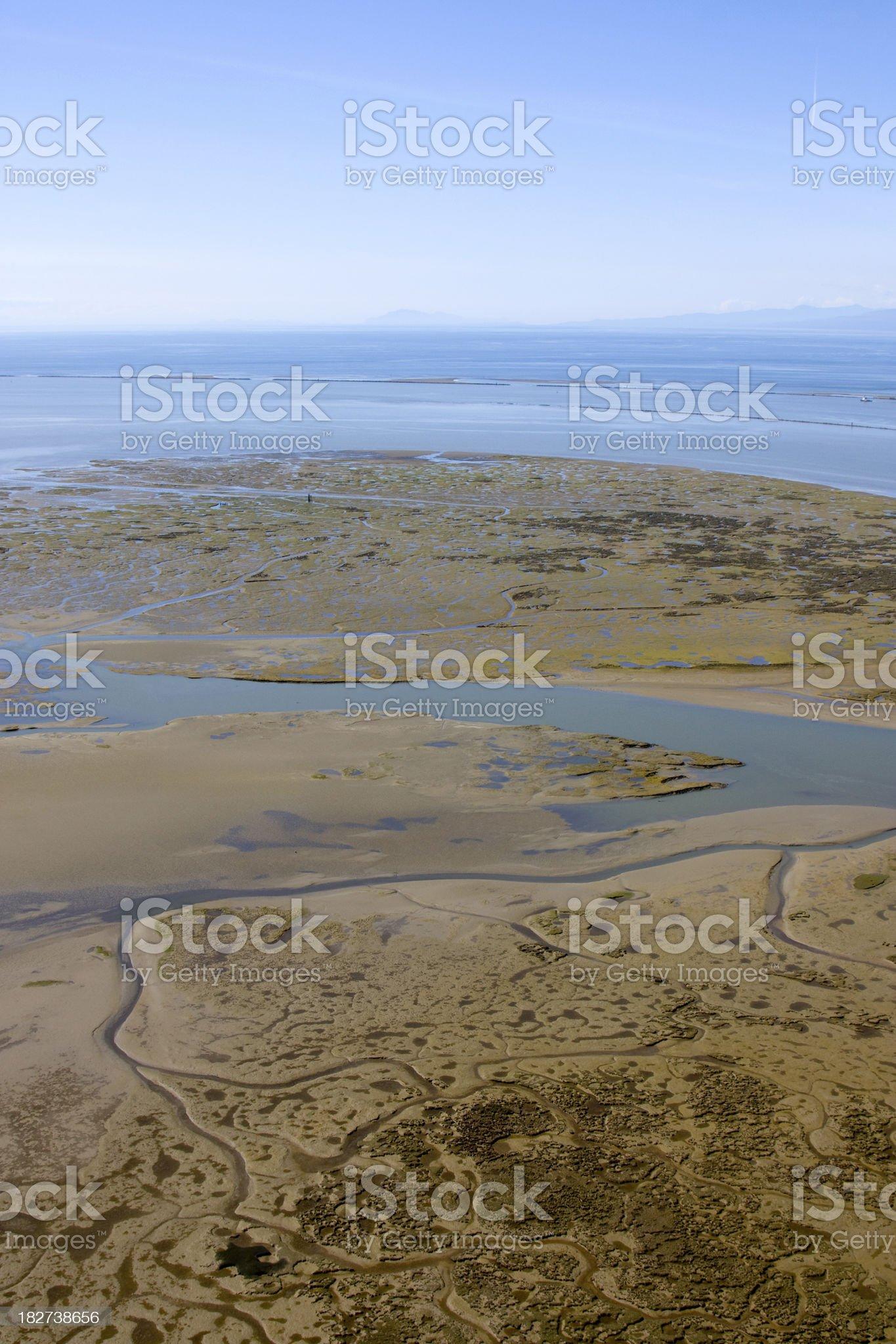 Tidal Mud Flats royalty-free stock photo