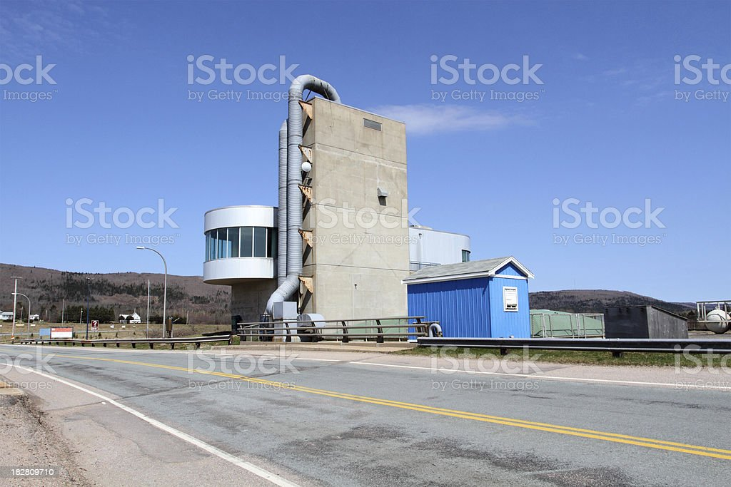 Tidal Power Generating Plant stock photo