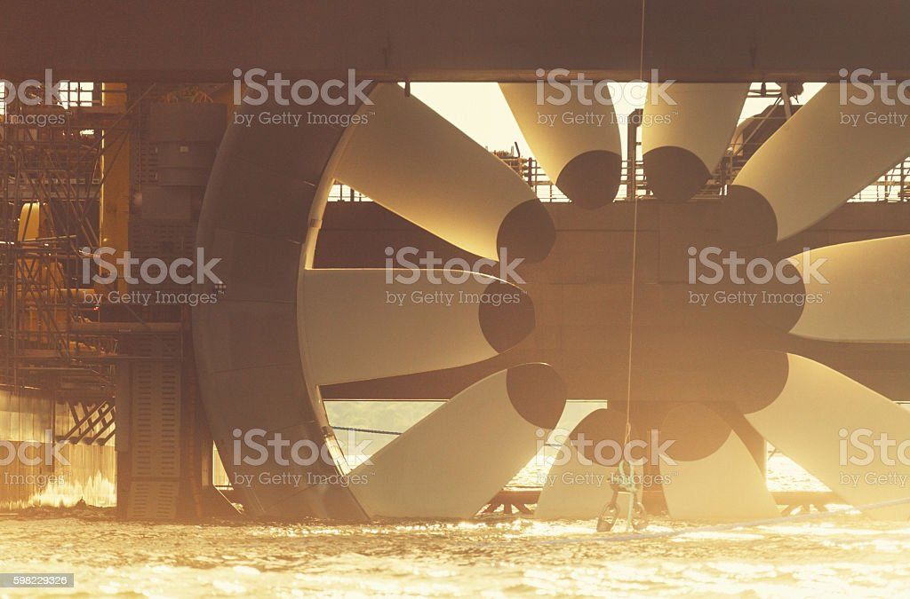 Tidal Power Generation stock photo