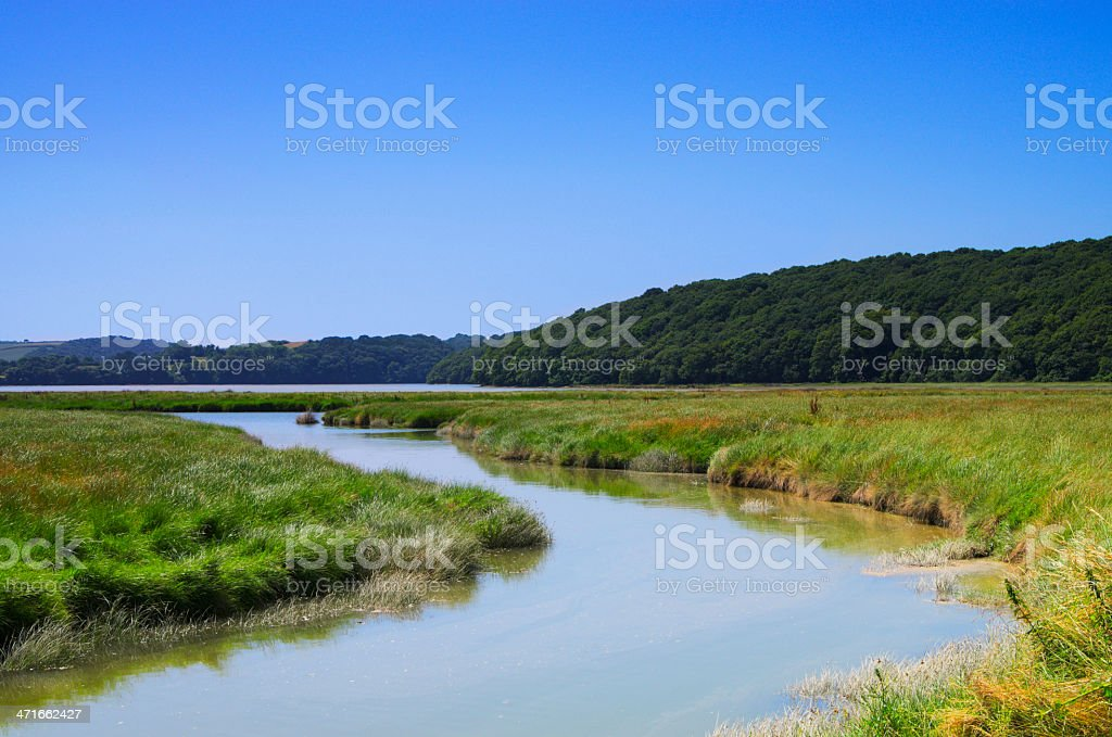 Tidal Reach Of The River Fal Cornwall UK stock photo