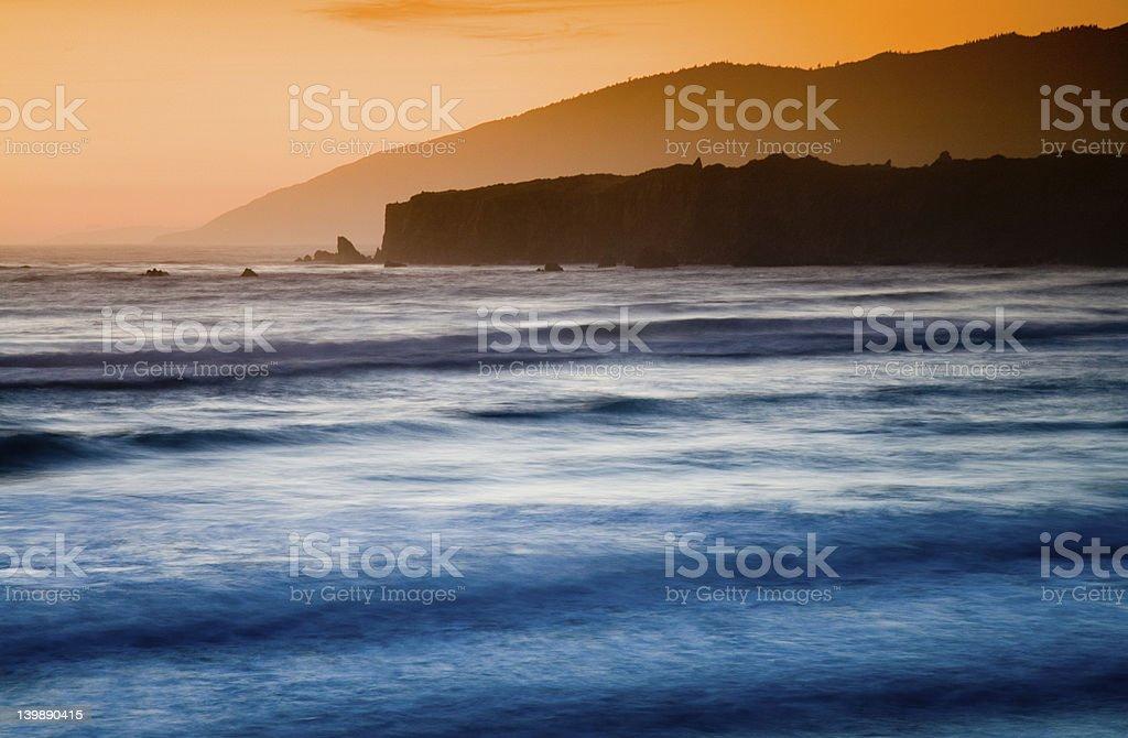 Tidal sunset stock photo