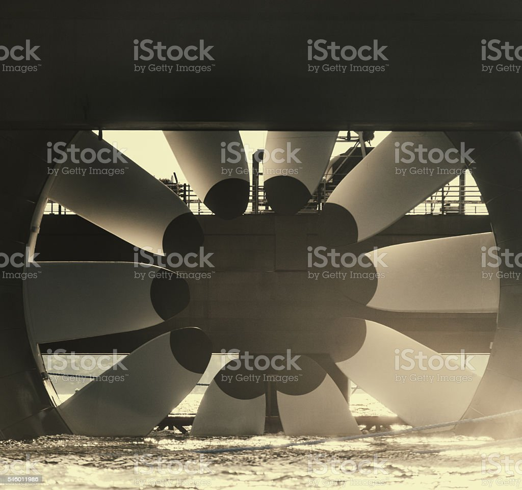 Tidal Turbine stock photo