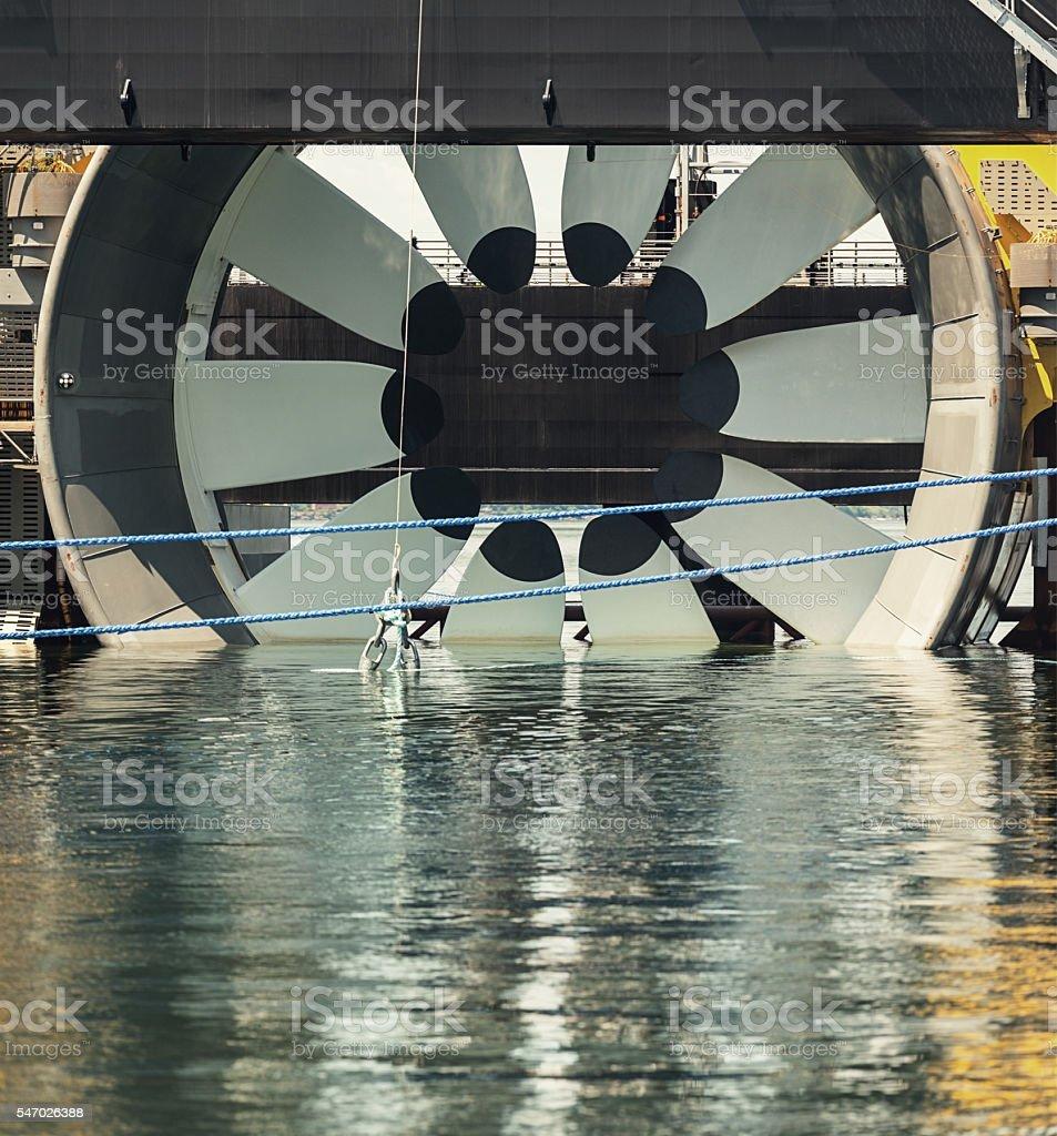 Tidal Turbine stock photo