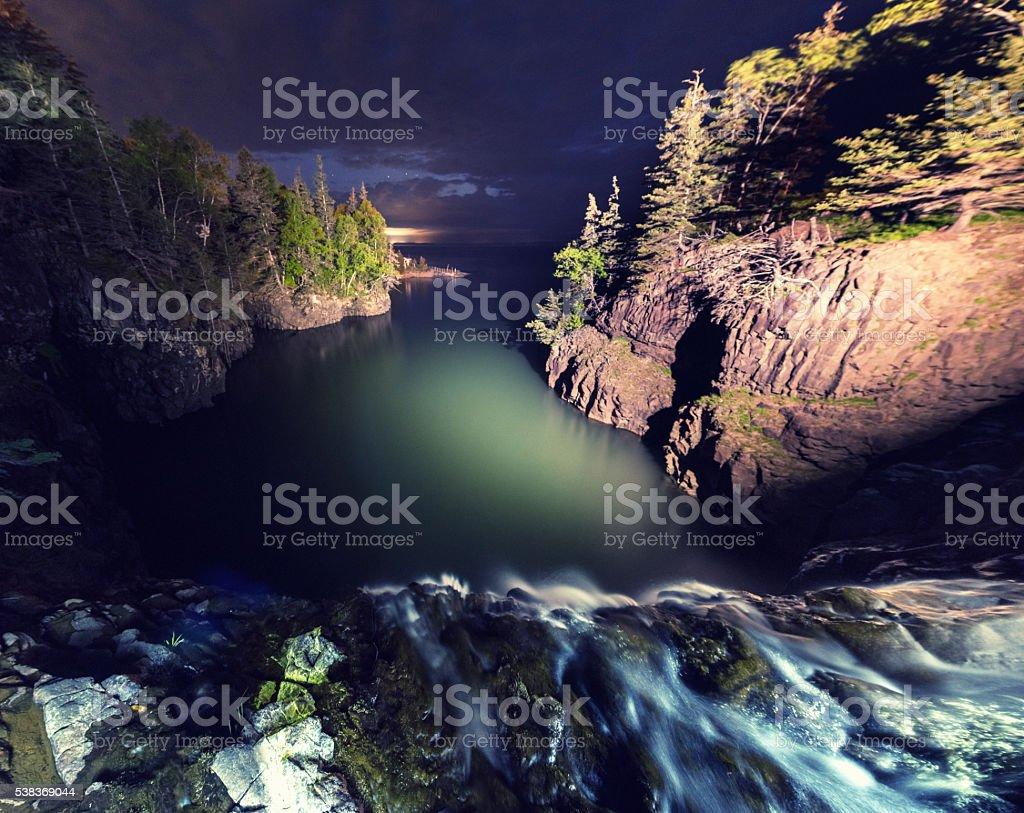 Tidal Waterfall stock photo