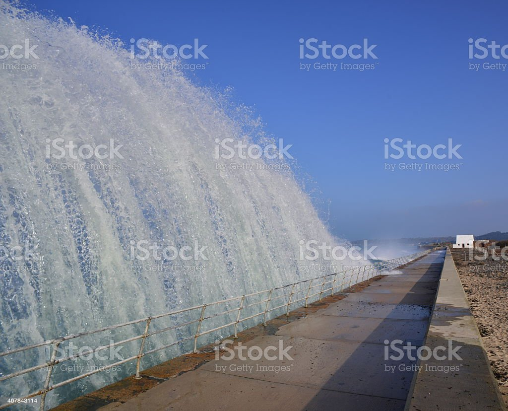 Tidal wave, U.K. stock photo
