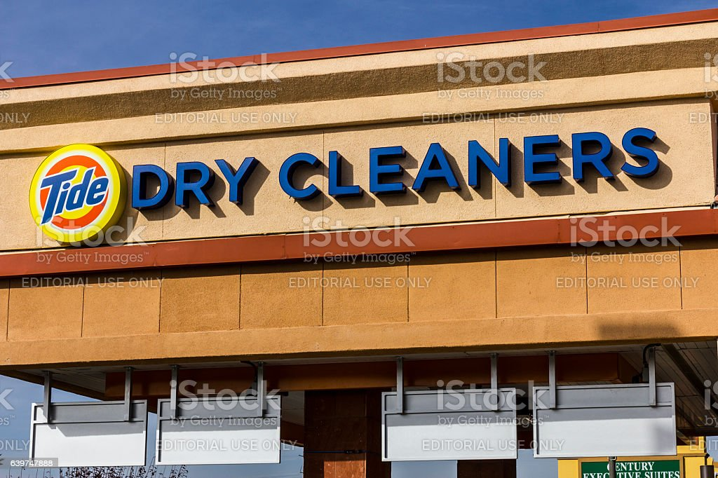 Tide Dry Cleaners Laundry Location I stock photo