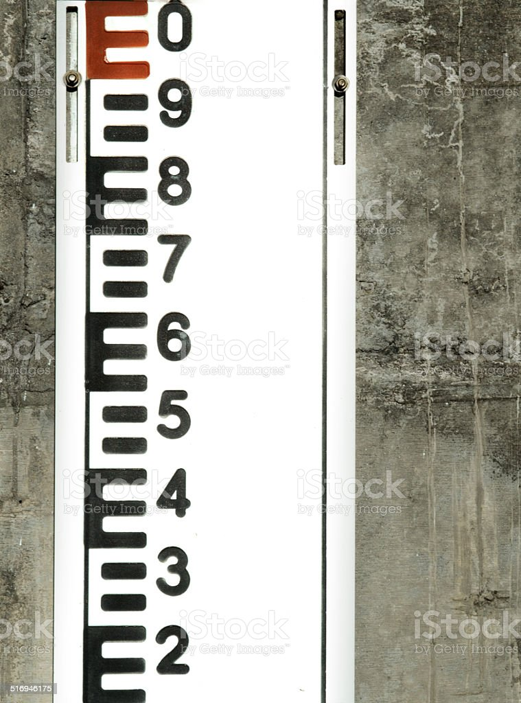 Tide level scale stock photo