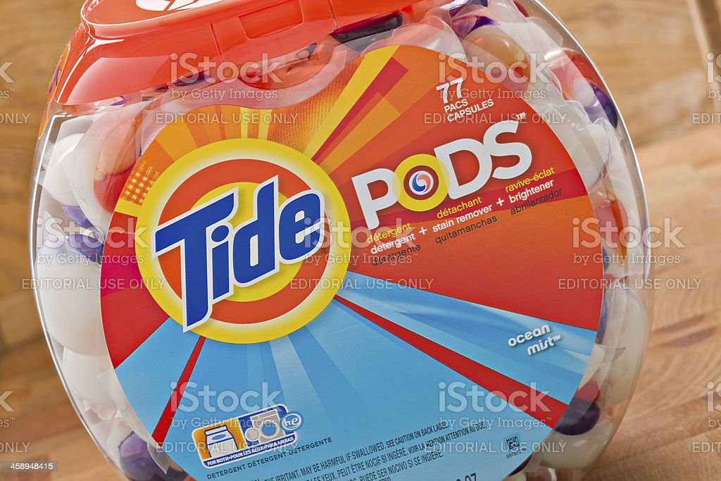 Tide Pods royalty-free stock photo