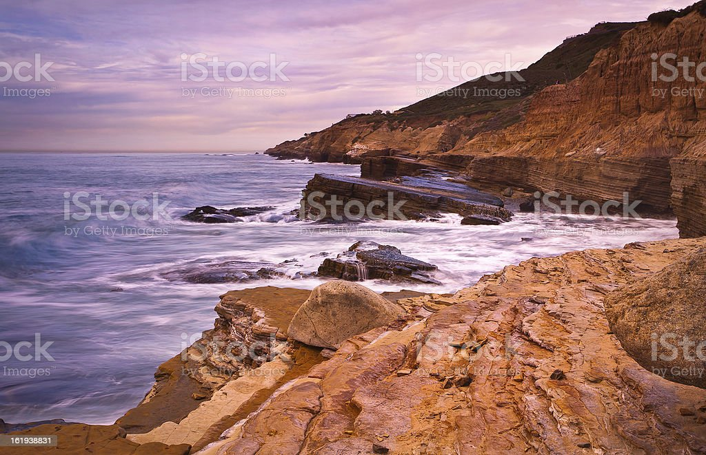 Tide Pools in Cabrillo National Monument San Diego, California stock photo