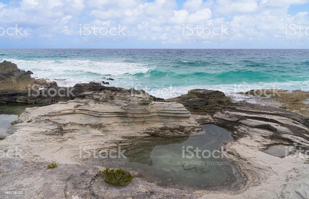 tide pools stock photo
