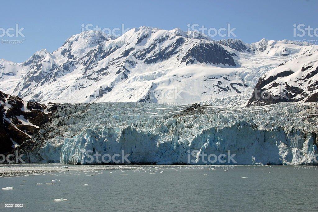 Tide Water Glacier, Prince William Sound, Alaska stock photo