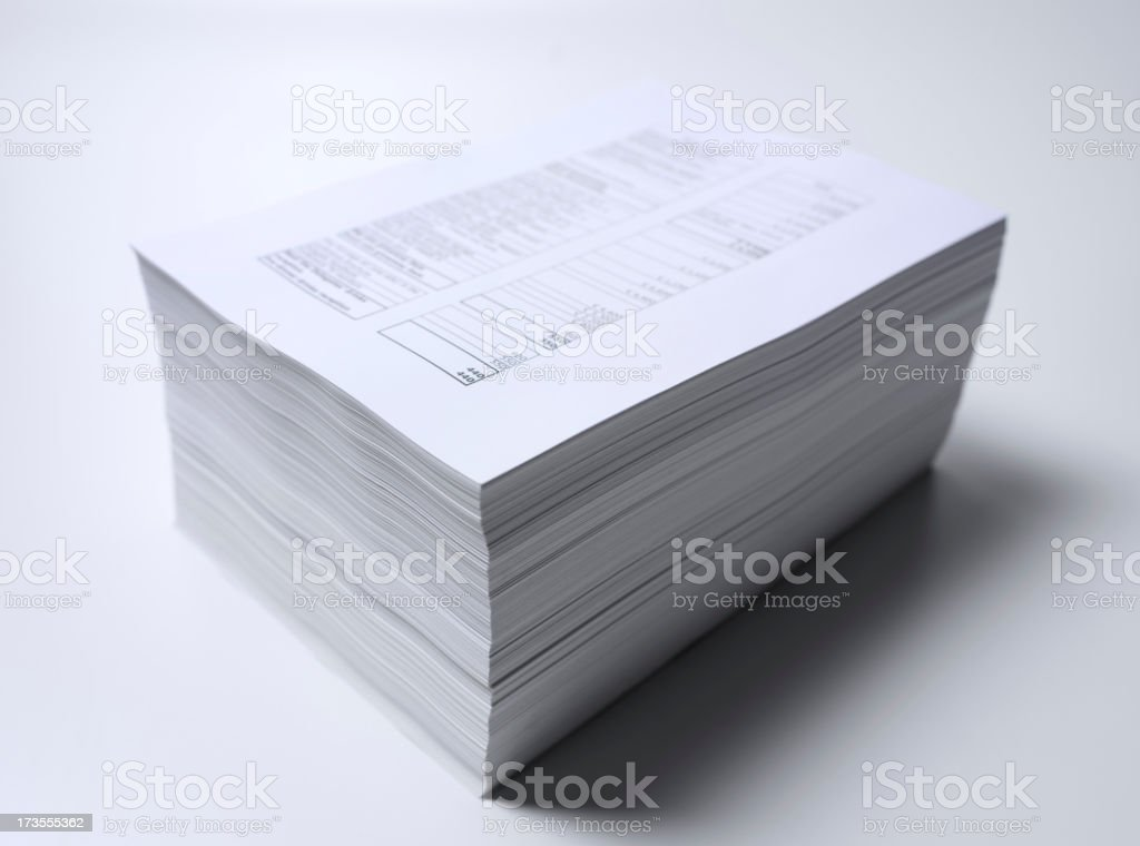 Tidy Paperwork stock photo