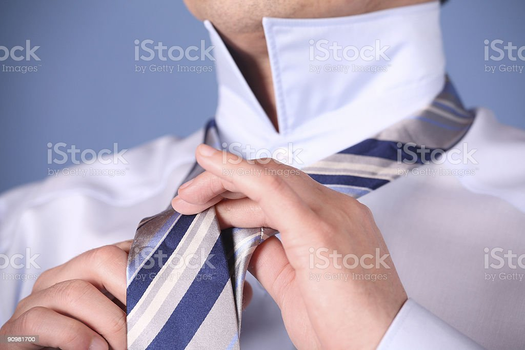Tie a Necktie 1 stock photo