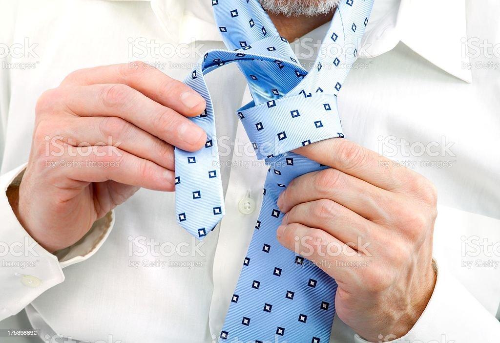 Tie a Necktie stock photo