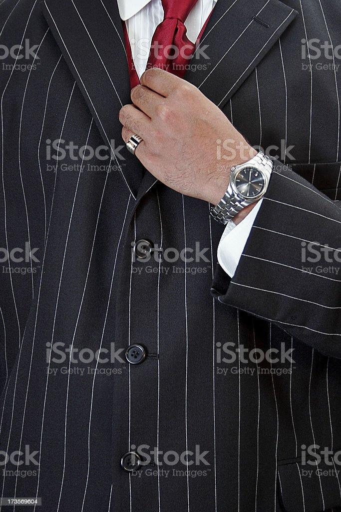 Tie Adjustment stock photo