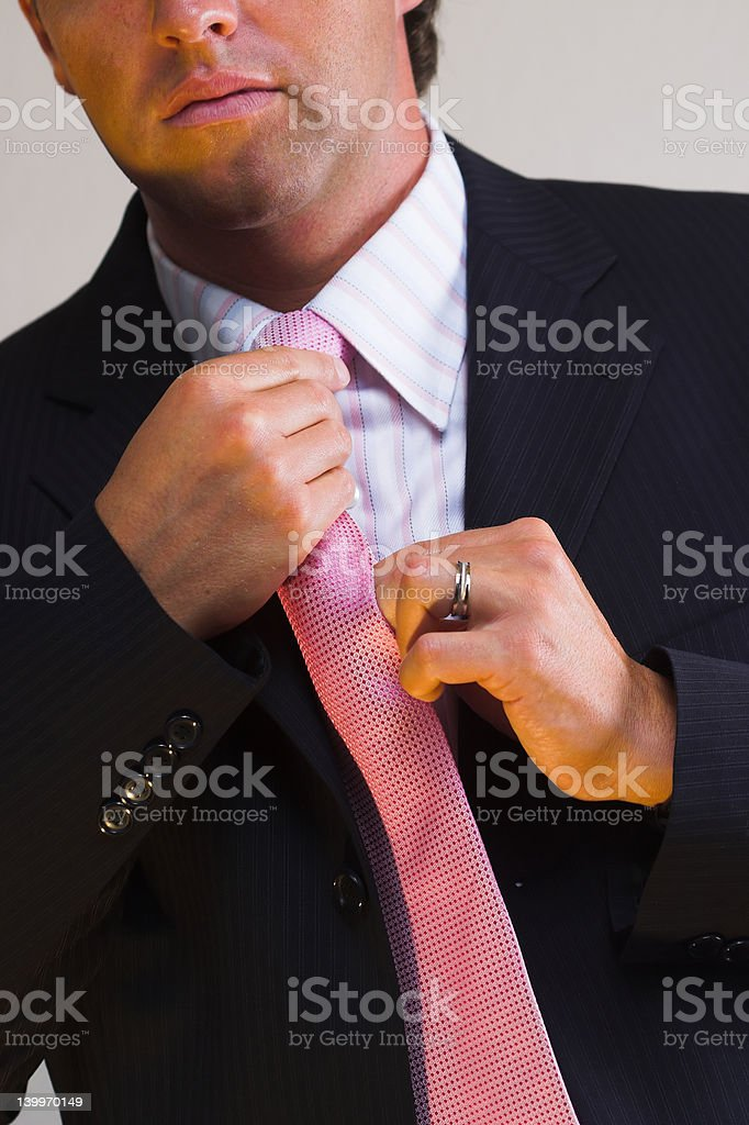 Tie and suit royalty-free stock photo