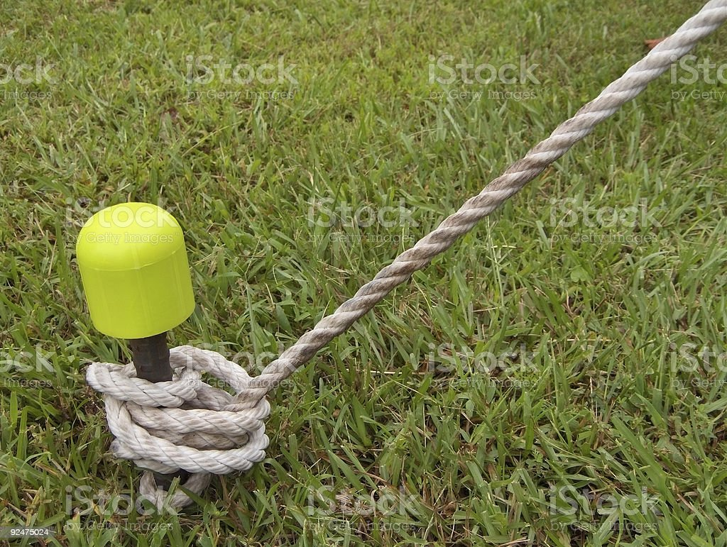 Tie Down And Rope royalty-free stock photo