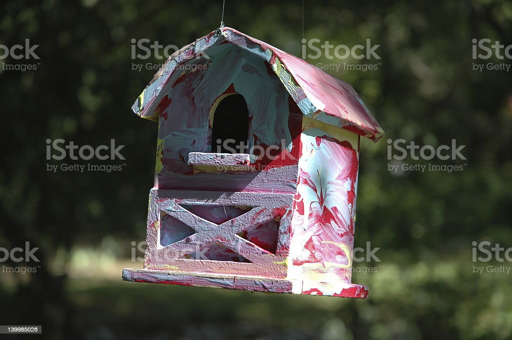 tie dye birdhouse royalty-free stock photo