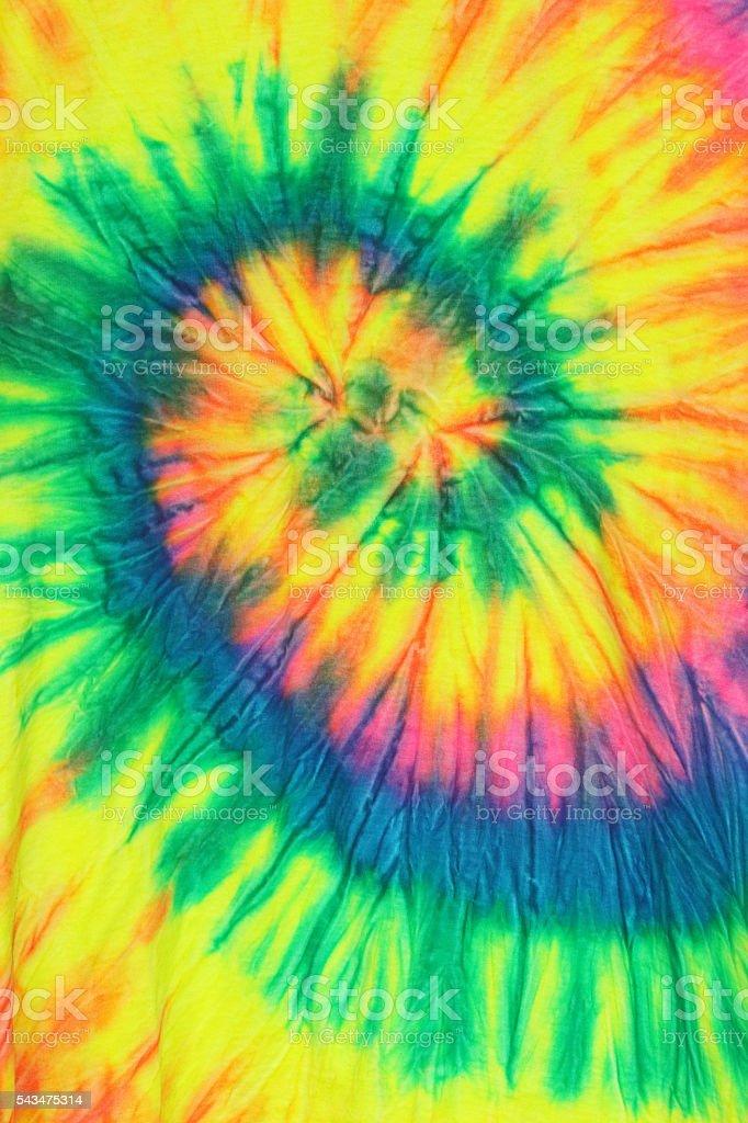 Tie Dye Cloth T shirt stock photo