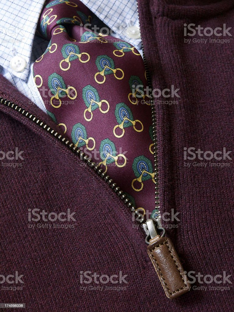 Tie & Sweater stock photo