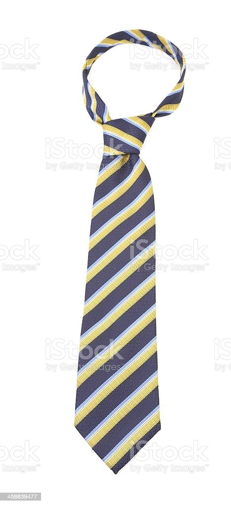 Tie with a colorful striped. stock photo