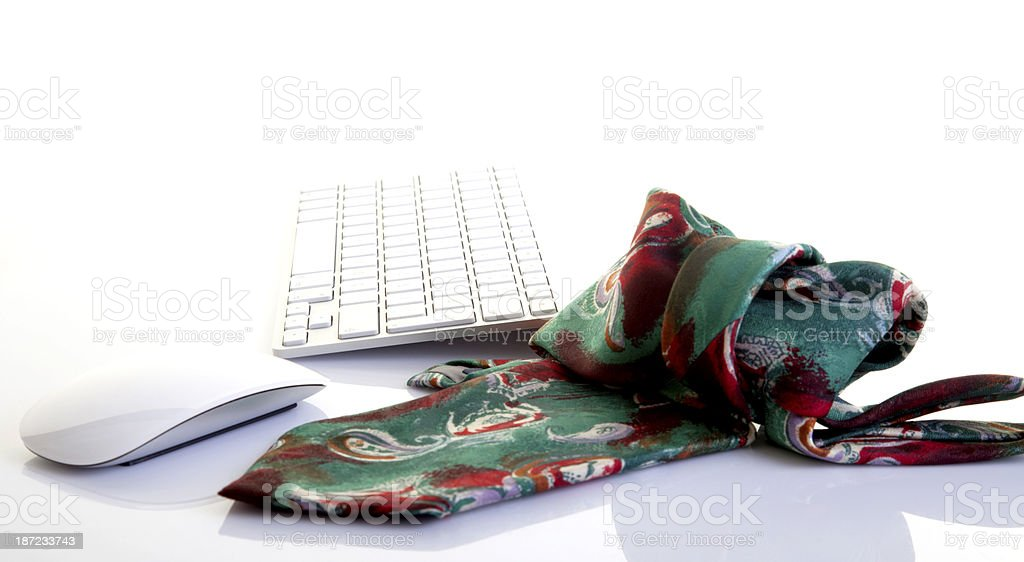 Tie with computer equipment royalty-free stock photo