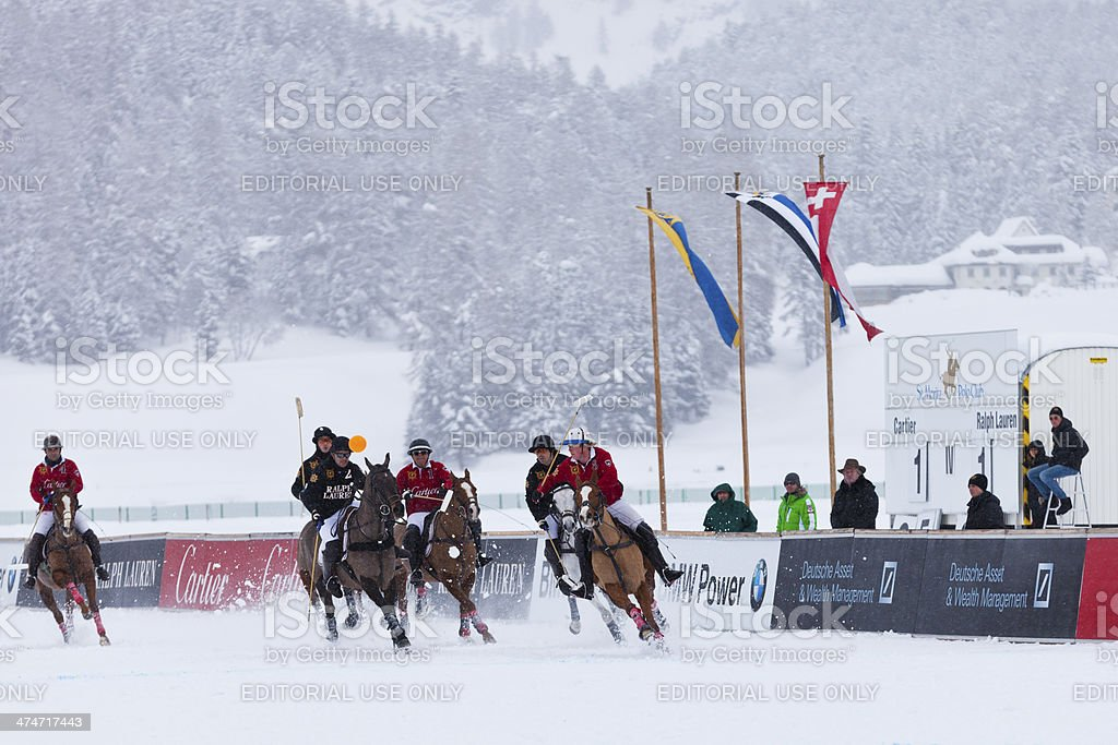 Tied at 1:1 in the 4th Chukker royalty-free stock photo
