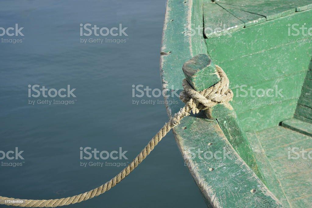 Tied boat royalty-free stock photo