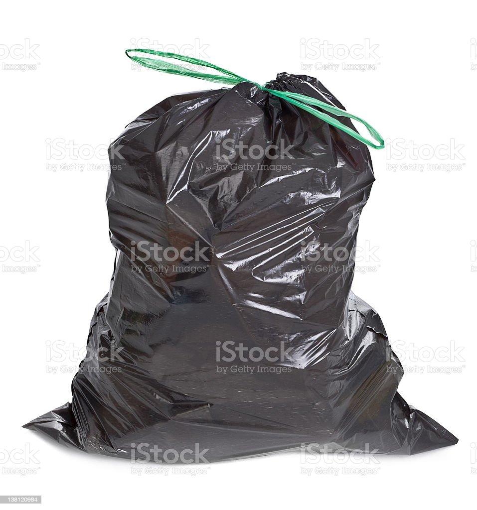 tied garbage bag stock photo
