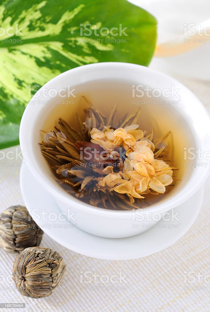 Tied green tea royalty-free stock photo