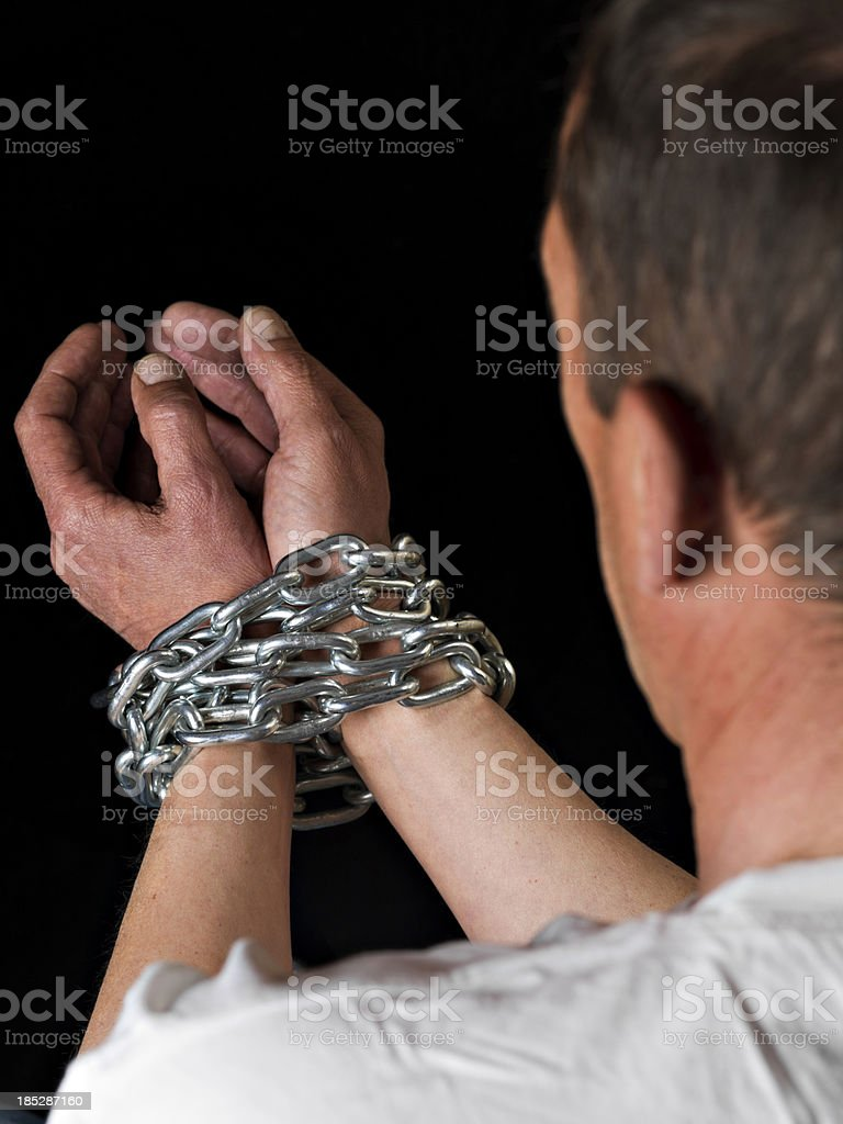 Tied hands royalty-free stock photo