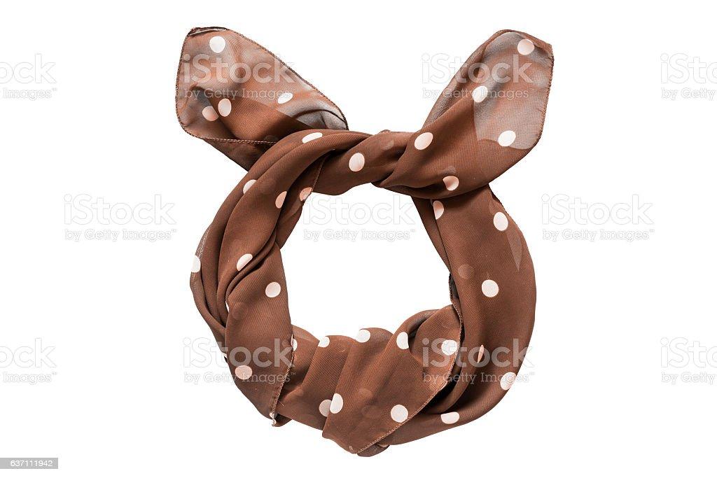 Tied kerchief isolated stock photo