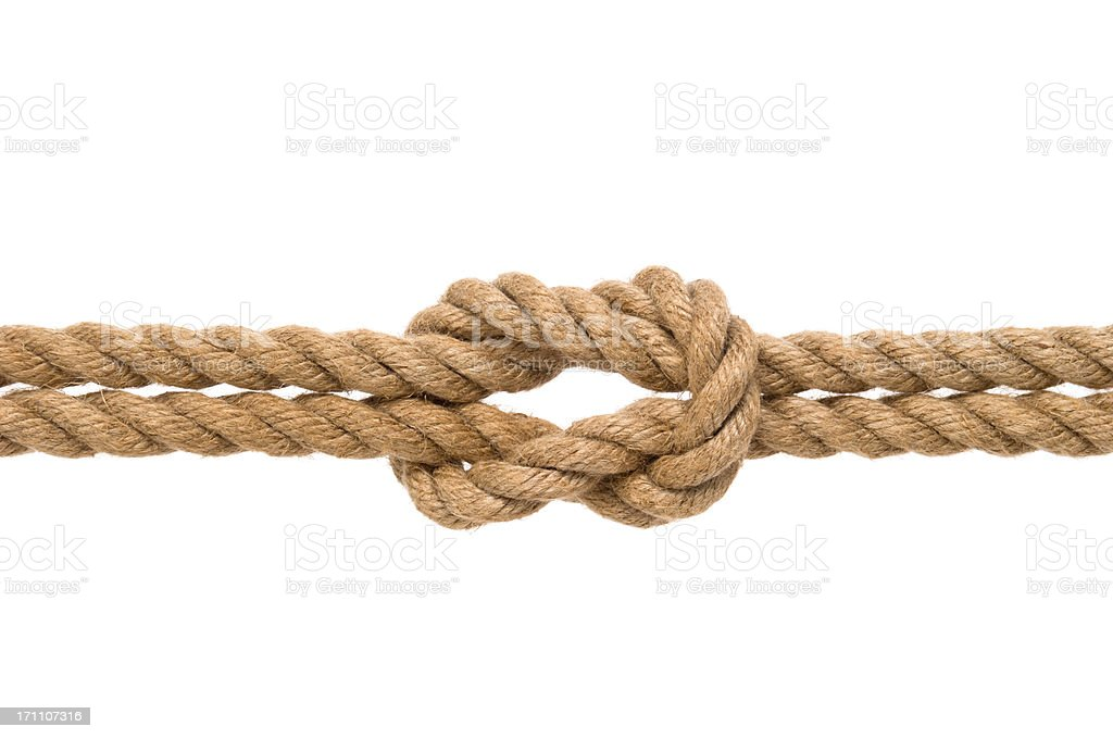 Tied knot stock photo