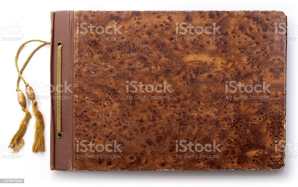 Tied Photo Album or Notebook royalty-free stock photo