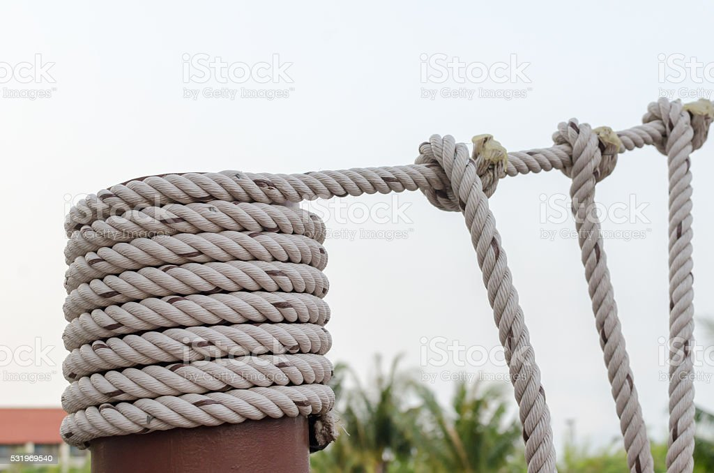 tied rope stock photo