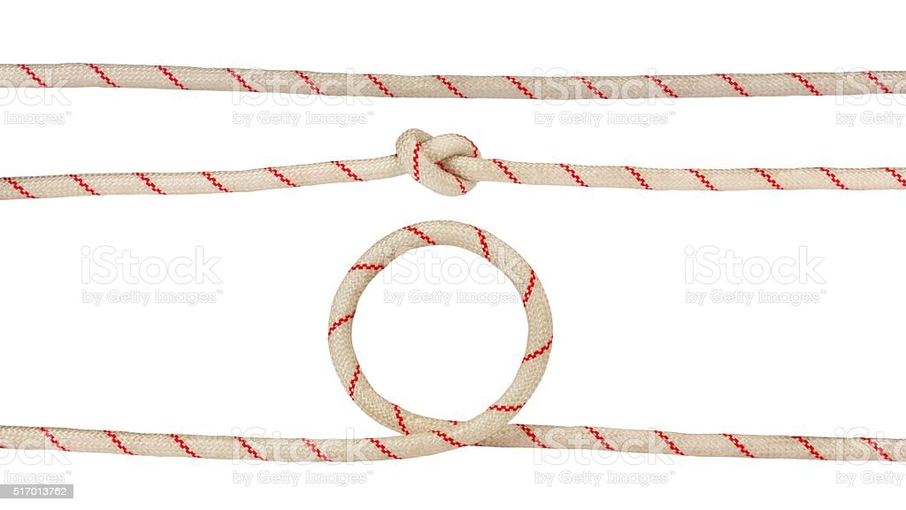 Tied rope variations stock photo